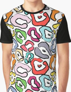 Colorful Jaguar Skin Background Graphic T-Shirt