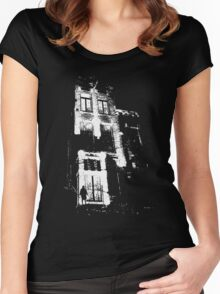 The door is open and the lights are on...  Urban TSHIRT Women's Fitted Scoop T-Shirt