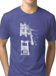 The door is open and the lights are on...  Tri-blend T-Shirt
