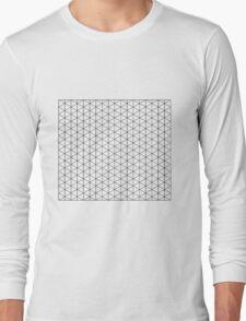 Isometric Grid. Long Sleeve T-Shirt