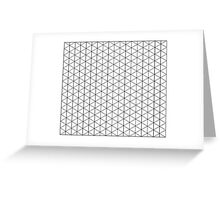 Isometric Grid. Greeting Card