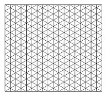 Isometric Grid. Photographic Print