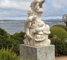Dolphins Sculpture at San Carlos Beach Park Sticker