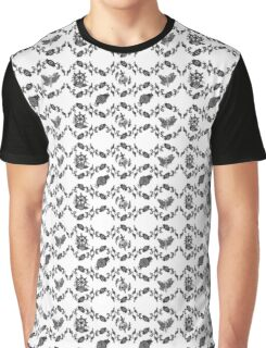 Floral Pattern with skulls moths and roses Graphic T-Shirt
