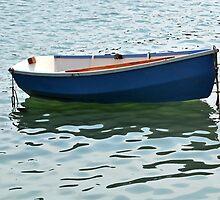 Little Blue Boat................Dorset UK by lynn carter