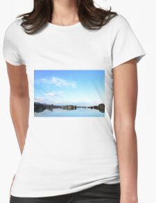 Israel, Dead Sea landscape  Womens Fitted T-Shirt