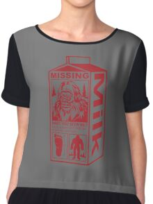 Sasquatch Milk Carton Chiffon Top