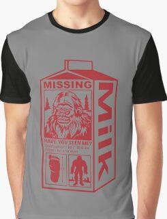Sasquatch Milk Carton Graphic T-Shirt