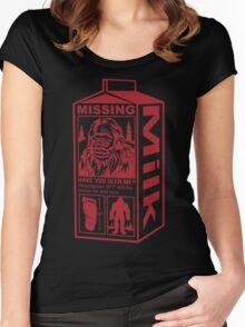 Sasquatch Milk Carton Women's Fitted Scoop T-Shirt