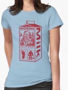 Sasquatch Milk Carton Womens Fitted T-Shirt