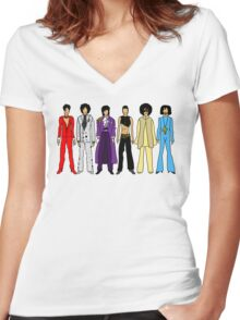 Retro Vintage Fashion 16 A Women's Fitted V-Neck T-Shirt