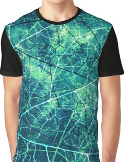 Ocean Blue Crackle Texture Graphic T-Shirt