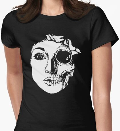 Face Before After Womens Fitted T-Shirt