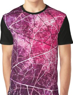 Pink and Purple Crackled Lacquer Grunge Texture Graphic T-Shirt