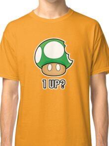 Super Mario, 1 UP Mushroom Classic T-Shirt