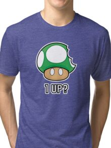 Super Mario, 1 UP Mushroom Tri-blend T-Shirt