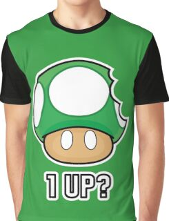 Super Mario, 1 UP Mushroom Graphic T-Shirt