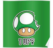 Super Mario, 1 UP Mushroom Poster