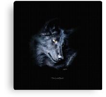 """The Look Back"" Timber Wolf Portrait Canvas Print"