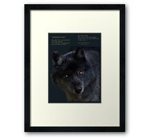 """Wilderness Wolf"" Framed Print"