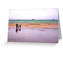 Three - The sea - Puerto Madryn Argentina Greeting Card
