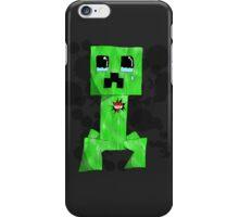 sad creeper ;-; iPhone Case/Skin