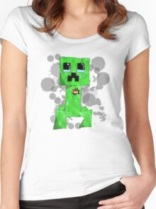 sad creeper ;-; Women's Fitted Scoop T-Shirt
