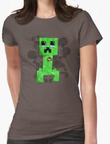 sad creeper ;-; Womens Fitted T-Shirt