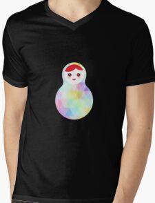 Matryoshka rainbow pastel colors Mens V-Neck T-Shirt