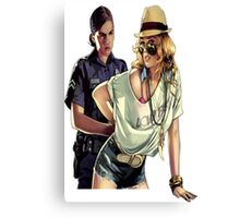 GTA police  Canvas Print
