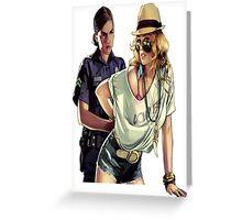 GTA police  Greeting Card