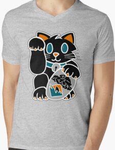 Lucky Cat Mens V-Neck T-Shirt