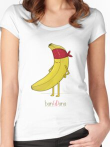 BANANA WITH BANDANA Women's Fitted Scoop T-Shirt