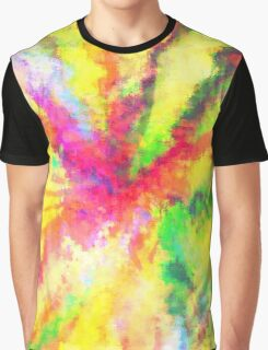 Psychedelic Abstract Watercolour Art Graphic T-Shirt