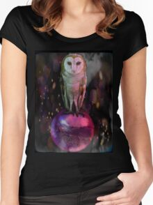 Labyrinth owl Women's Fitted Scoop T-Shirt