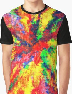 Psychedelic Art School Acrylic Paint Canvas Graphic T-Shirt
