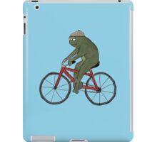 Gentleman Frog on a Bicycle iPad Case/Skin