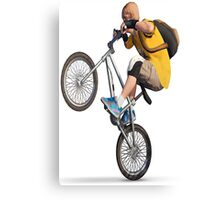 bike rider Canvas Print