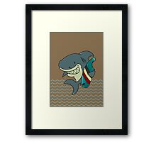 The great white surfer Framed Print