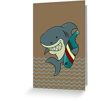 The great white surfer Greeting Card