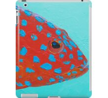 Strawberry Grouper Fish on turquoise iPad Case/Skin