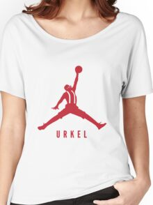 Steve Urkel Jumpman Logo Spoof 2 Women's Relaxed Fit T-Shirt