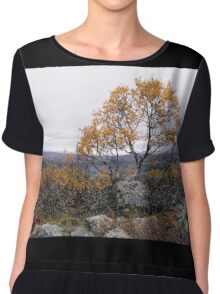 Autumn Tree Chiffon Top