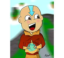 Cartoon Aang With Background Photographic Print