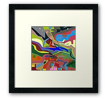 Color theory of the firmanent - accepted Framed Print