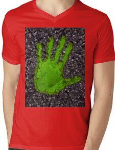 Carbon handprint Mens V-Neck T-Shirt