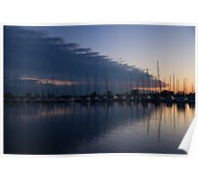 The Urge to Sail Away - Violet Sky Reflecting in Lake Ontario in Toronto, Canada Poster