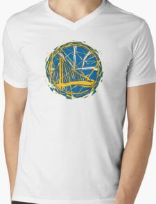 GSW LOGO Mens V-Neck T-Shirt