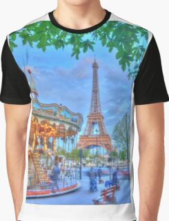 Eiffel Tower with carousel Graphic T-Shirt