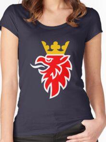 saab logo t shirt Women's Fitted Scoop T-Shirt